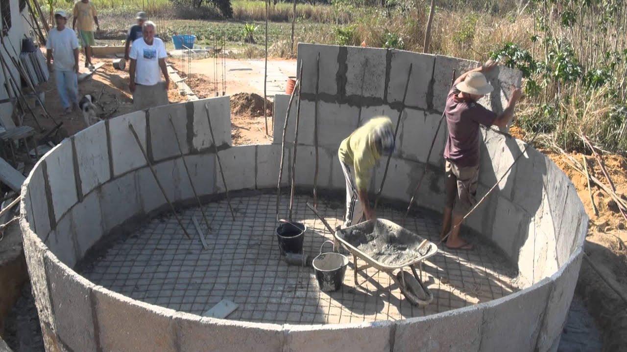 constru o de cisterna para armazenamento de gua das