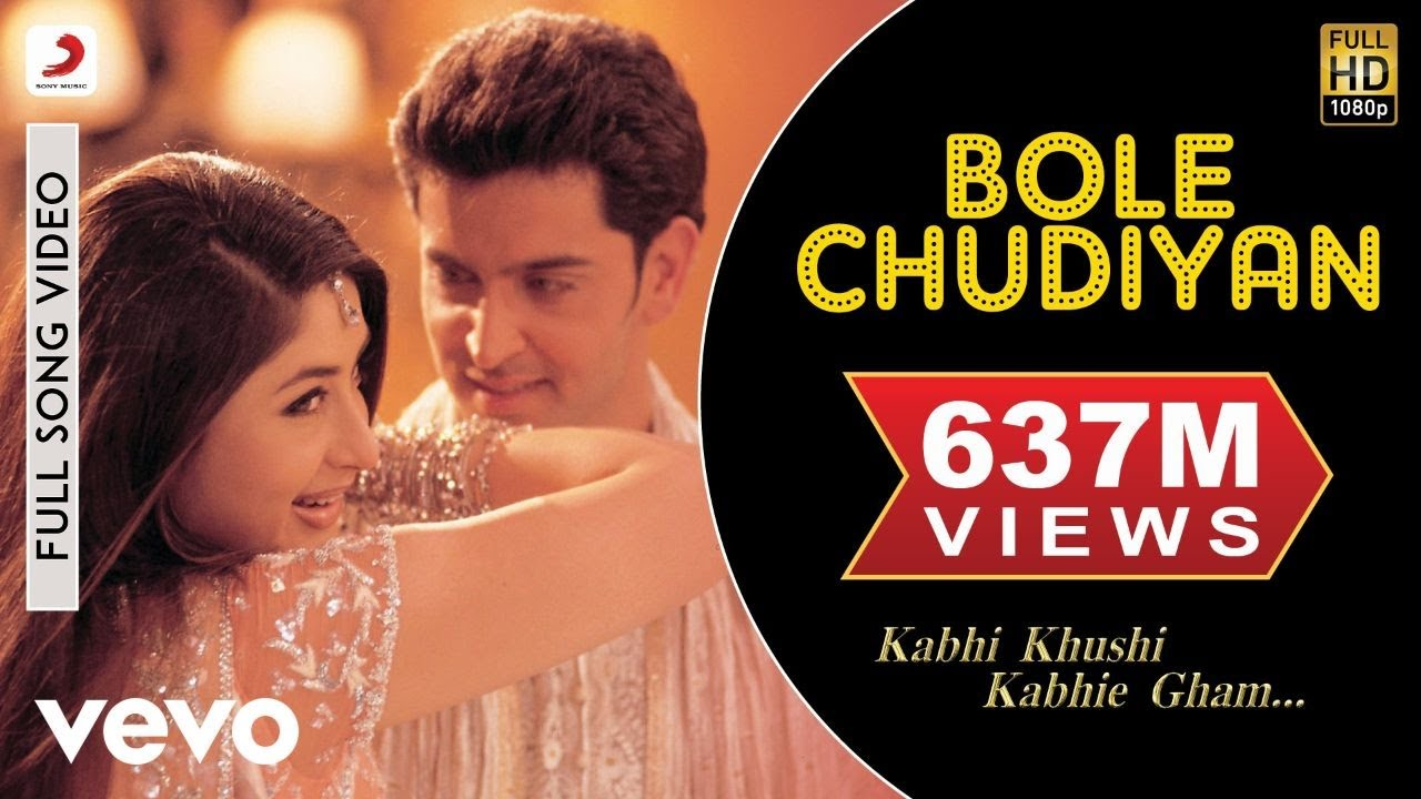 Download Bole Chudiyan Full Video - K3G|Amitabh, Shah Rukh, Kajol, Kareena, Hrithik|Udit Narayan
