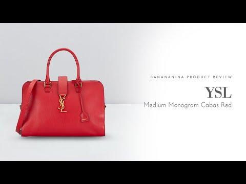 Banananina Product Review: YSL Medium Monogram Cabas Red