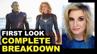Captain Marvel FIRST LOOK Reaction & Breakdown