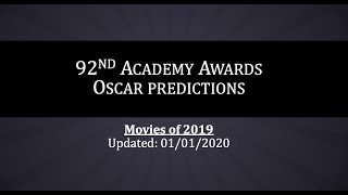 92nd Academy Awards Predictions (Updated 01/01/2020) - Movies of 2019