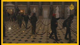 شاهد | لحظة اقتحام أنصار ترمب لمبنى الكونغرس