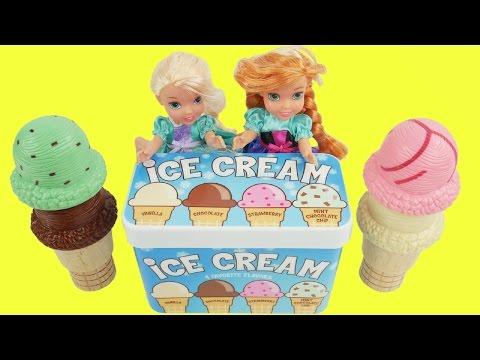Frozen elsa and anna ice cream toys