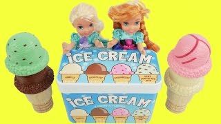 Frozen elsa and anna ice cream toys