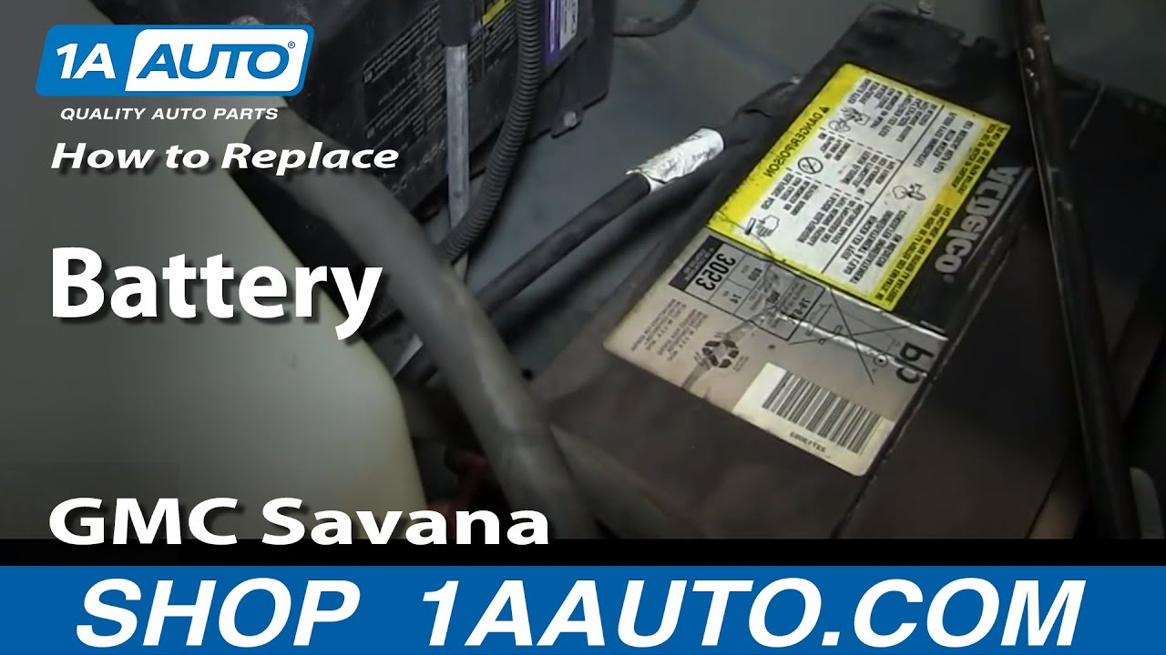 How To Install Replace Battery Gmc Savana Chevy Express Youtube 12 Volt Car Diagram With Cutaway And Labeled Components 1a Auto Parts