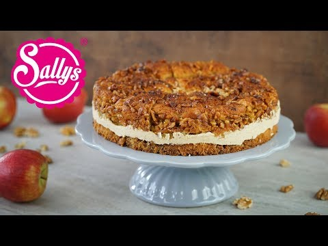 bienenstich-im-herbst-/-apfel-zimt-torte-mit-walnusskruste-/-sallys-welt