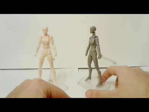 Fake Figma Archetype Next She Flesh Color And Gray Color Figure Review