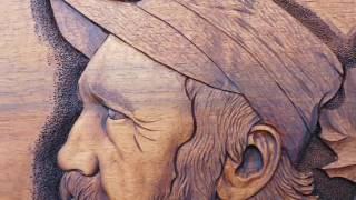 Portrét Wabiho Ryvoly (Řezbářská práce - postup)