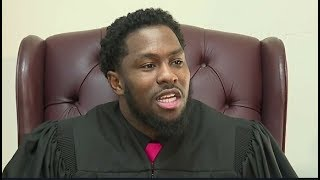 After being imprisoned 3 times 27-Y/O Hanif Johnson is now youngest Judge...