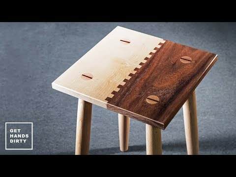 Make a Walnut and Maple Stool with a Finger Joint