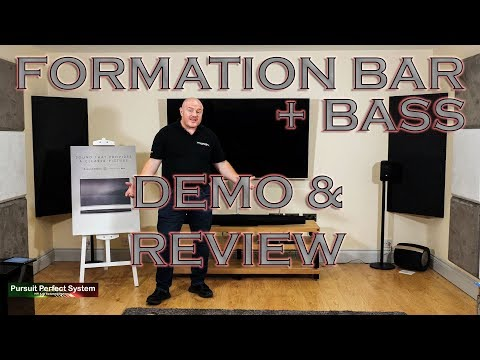 Bowers & Wilkins NEW Formation BAR & BASS HiFi Soundbar Subwoofer DEMO & REVIEW