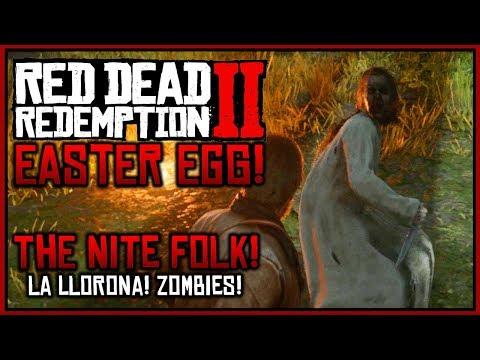 "Red Dead Redemption 2: Easter Eggs - Creepy ""La Llorona"" Ghost & Nite Folk Zombies!"