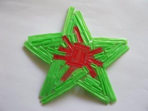 Adorno de navidad estrella navide a manualidades para - Manualidades para navidades faciles ...