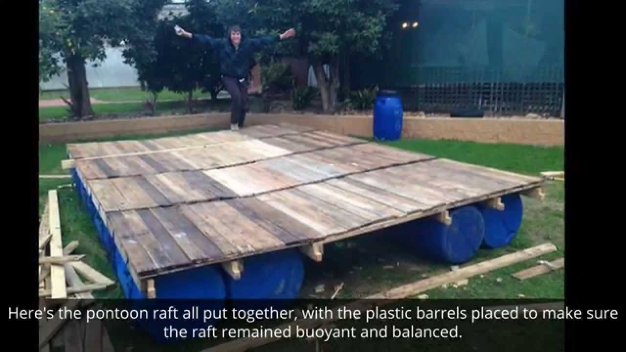 These Guys Built Their Very Own Pontoon Raft Using Wood