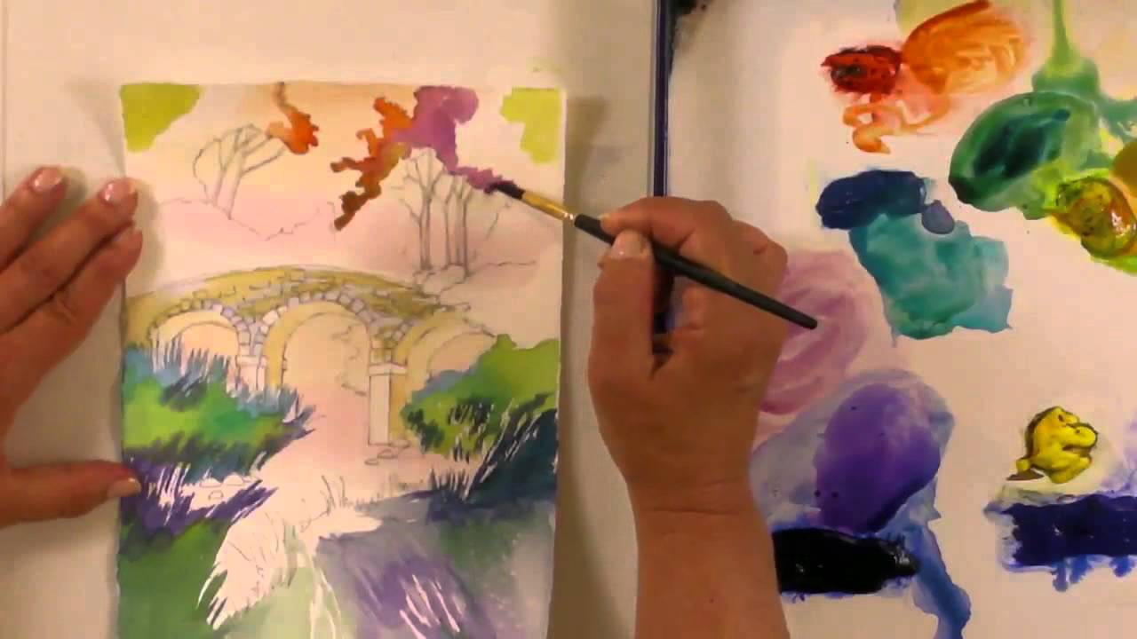 Watercolor for Beginners (Episode 24): Stone Bridge in Watercolor with Jan Fabian Wallake