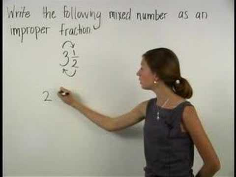 Converting Mixed Numbers To Improper Fractions Mathhelpcom Youtube