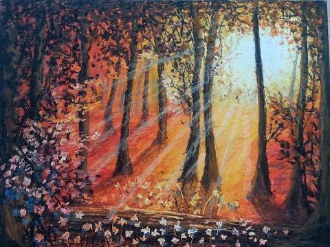 Sunrise Oil Pastel Tutorial How To Paint A Landscape