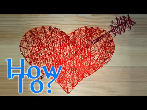 How to make a Heart using Wood Nails and Thread