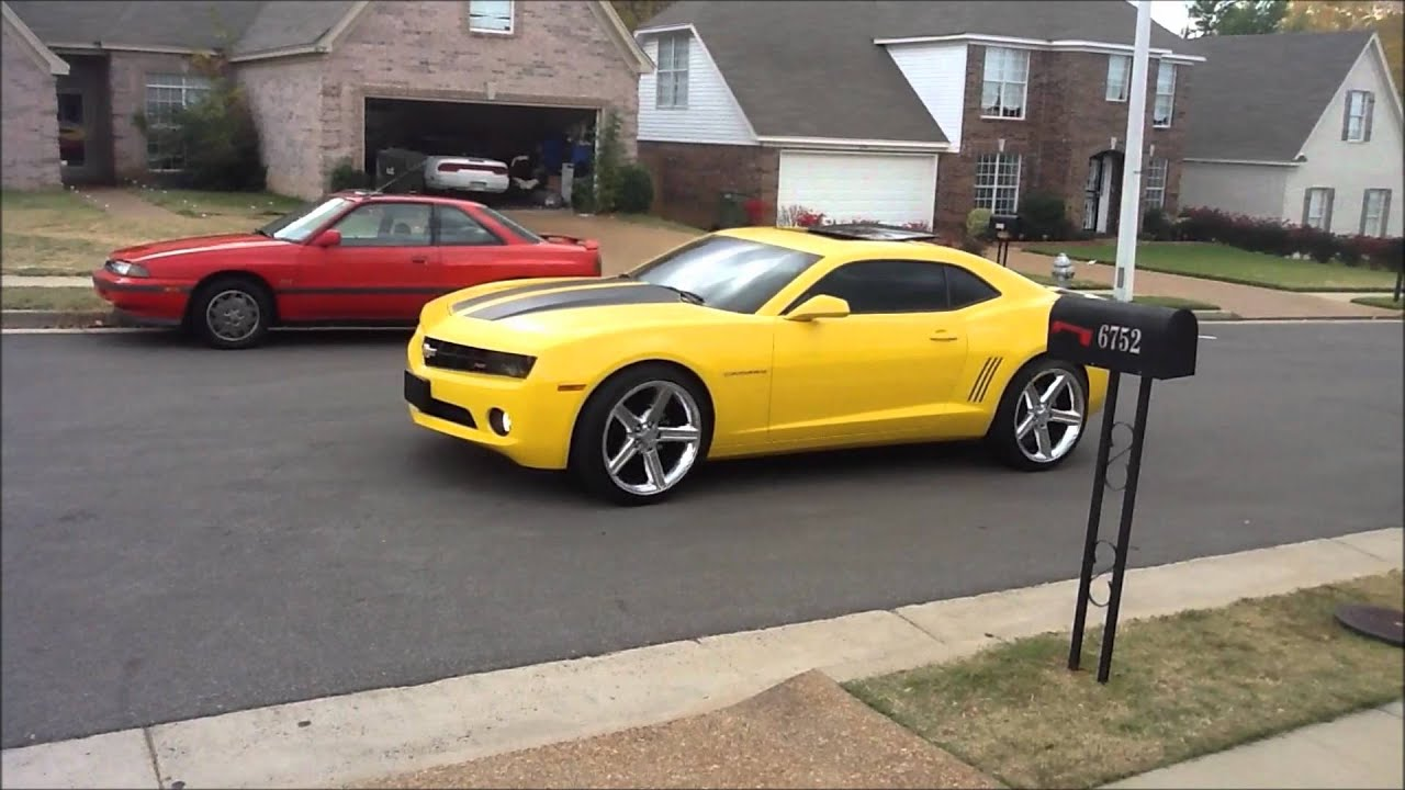 Camaro On 22 Inch Iroc Wheels Youtube