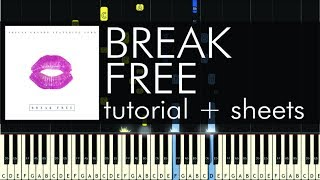 "How to Play ""Break Free"" by Ariana Grande - Piano Cover and Tutorial"
