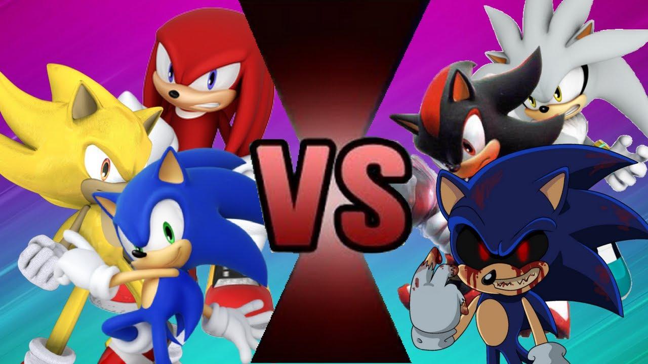 Sonic vs shadow vs silver vs golden sonic vs knuckles vs - Sonic et shadow ...