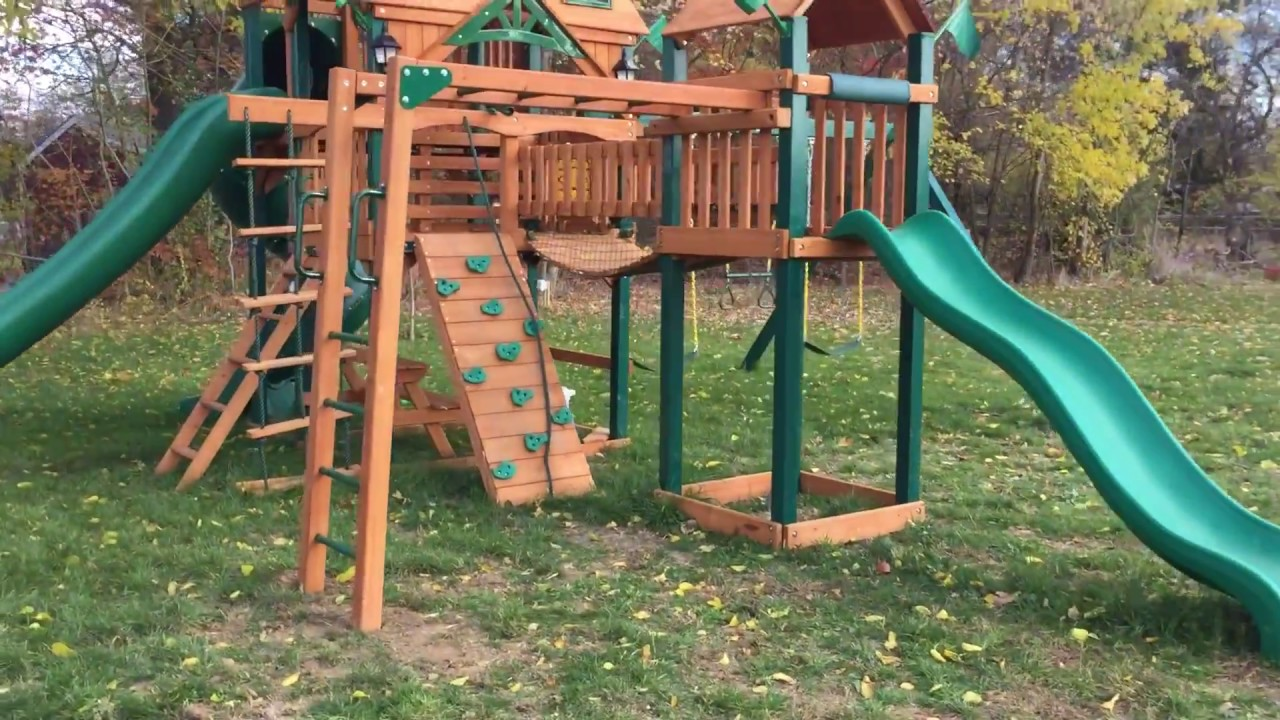 gorilla playsets monkey bar add on review youtube