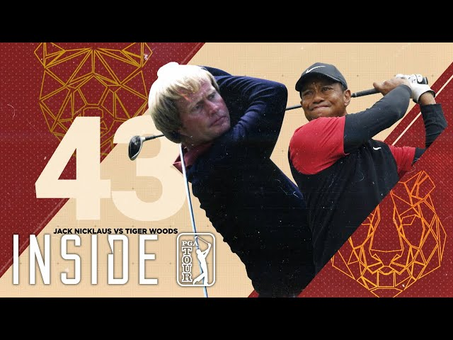 Comparing Jack Nicklaus and Tiger Woods at the age of 43