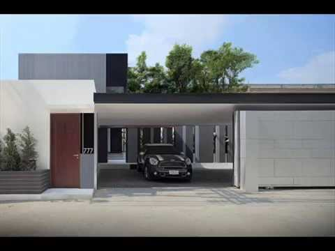Modern home design l shaped architecture youtube for V shaped architecture