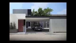 Modern Home Design: L-shaped Architecture