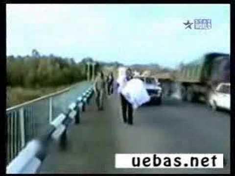 Stupid Car Accident: Funny Dumb woman driving + Truck crash