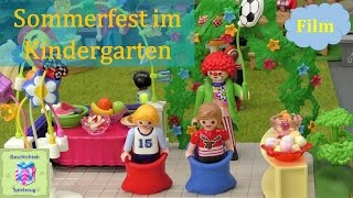 playmobil film deutsch sommerfest im kindergarten playmobil geschichten mit familie miller