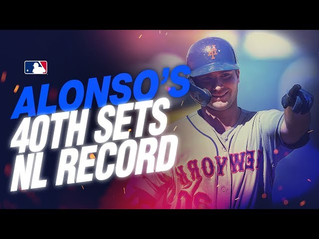 Mets slugger Pete Alonso sets NL rookie record with his 40th HR!