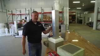 Heartland Pergolas Setp 2c - Install Post Mount to Footing - Columns