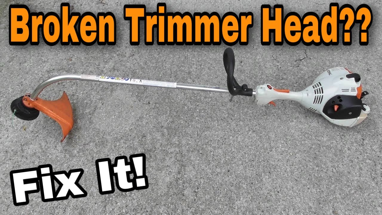How To Replace A Stihl Trimmer Shaft / Head Broke Off (Curved Shaft) with  Taryl
