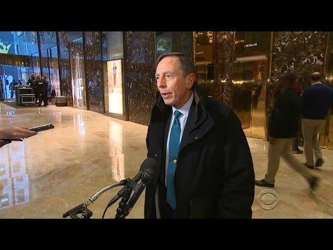 Trump meets with Gen. David Petraeus, mulls Cabinet picks