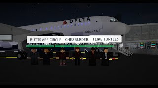 ROBLOX - Pro Delta Airlines Airbus A319 Flight