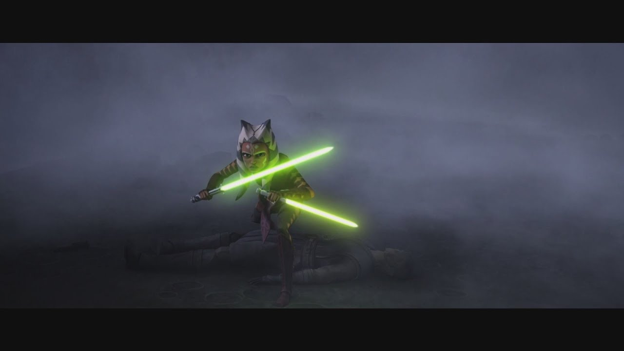 Star Wars: The Clone Wars - Anakin & Ahsoka Tano vs Cad Bane & Obi-Wan  Kenobi [1080p]