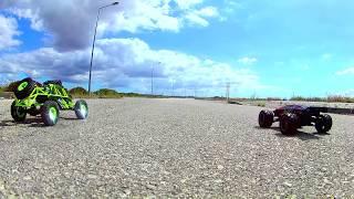 Wltoys 12428 Vs S9116 #Drag#Jump#sand#asphalt