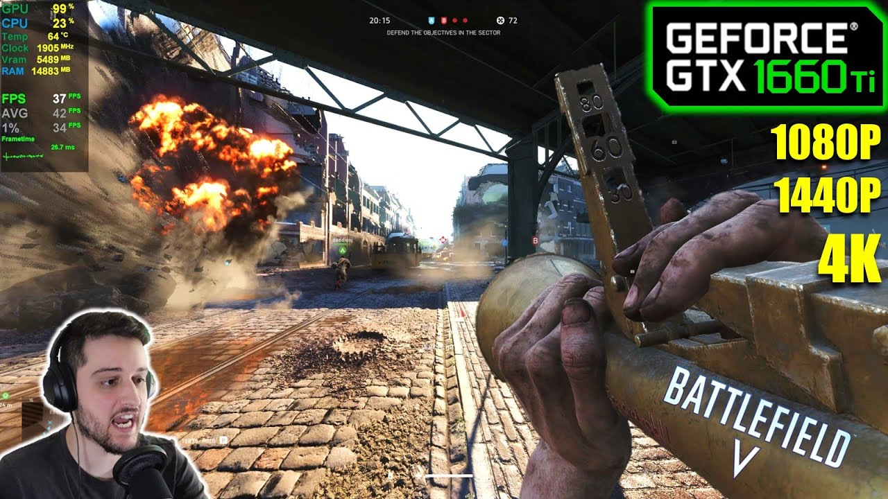 GTX 1660 Ti   Battlefield V - 1080p, 1440p, 4K - ULTRA