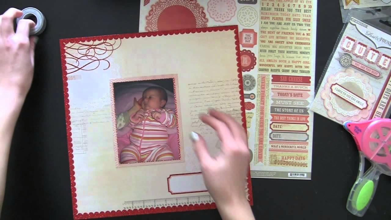 Quick easy scrapbook ideas - Easy Scrapbook Layout Inspiration Tutorial