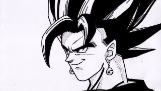 HOW TO DRAW VEGETO IN REAL TIME ベジット