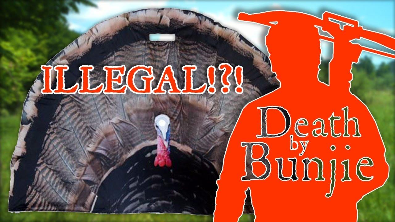 Turkey Fan Decoy Blinds--ILLEGAL in Pennsylvania!