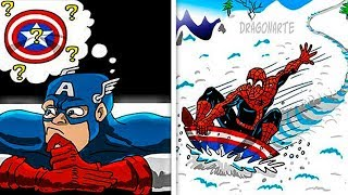 FUNNY SPIDER-MAN COMICS To Make You Laugh - Marvel & DC .
