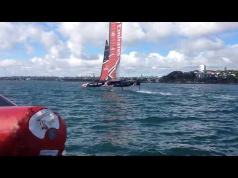 Sail World com NZ  - A day with Emirates Team NZ