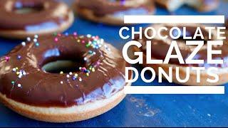 CHOCOLATE GLAZED DONUTS    Low fat & Vegan