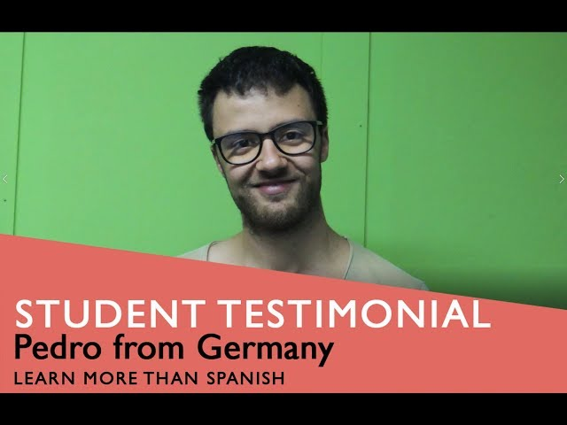 General Spanish Course Student Testimonial by Rogier form England