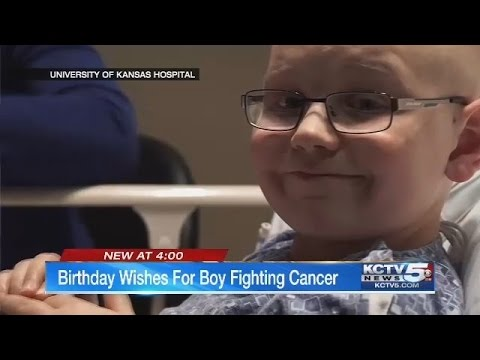 KCK police seek birthday cards for young British boy in Kansas City for cancer treatment