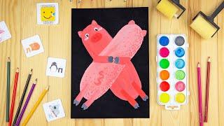 АЛФАВИТ для малышей от А до Я/ Буква Х/ Урок рисования для детей