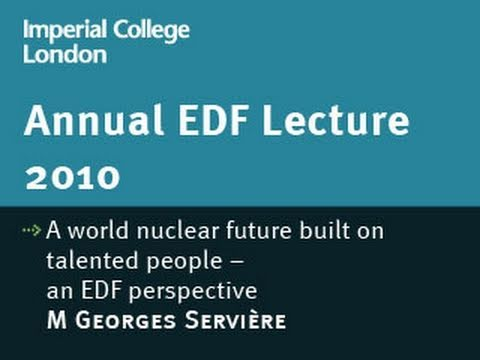 A world nuclear future built on talented people - an EDF perspective