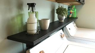 Laundry Room Organization - Quick Access Shelf